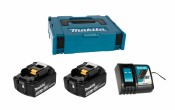 Makita Power Source-Kit 18V/5,0Ah 197624-2, 2x BL1850B + DC18RC + MAKPAC