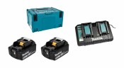 Makita Power Source-Kit 18V/5,0Ah, 2x BL1850B + DC18RD + MAKPAC