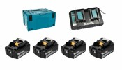 Makita Power Source-Kit 4x 5Ah Akku BL1850B + DC18RD